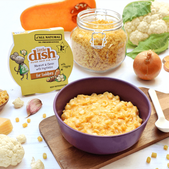 We make our Macaroni & Cheese with a creamy Cheddar & Parmesan sauce and pureed butternut squash, sweet potato and cauliflower.